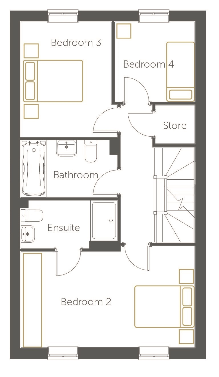 Seville floor plan