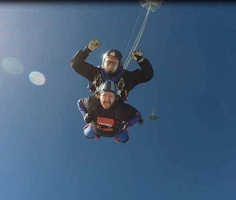 Charity skydive takes fundraising to extreme heights