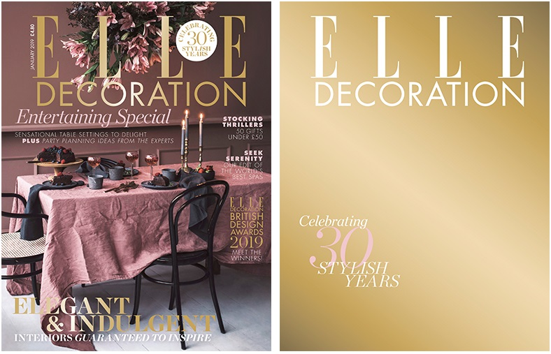 Elle Decoration Magazine covers 2019