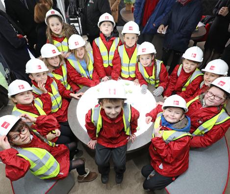 SCHOOL SAFETY ARTWORK MARKS START OF BUILDING AT EMOTION