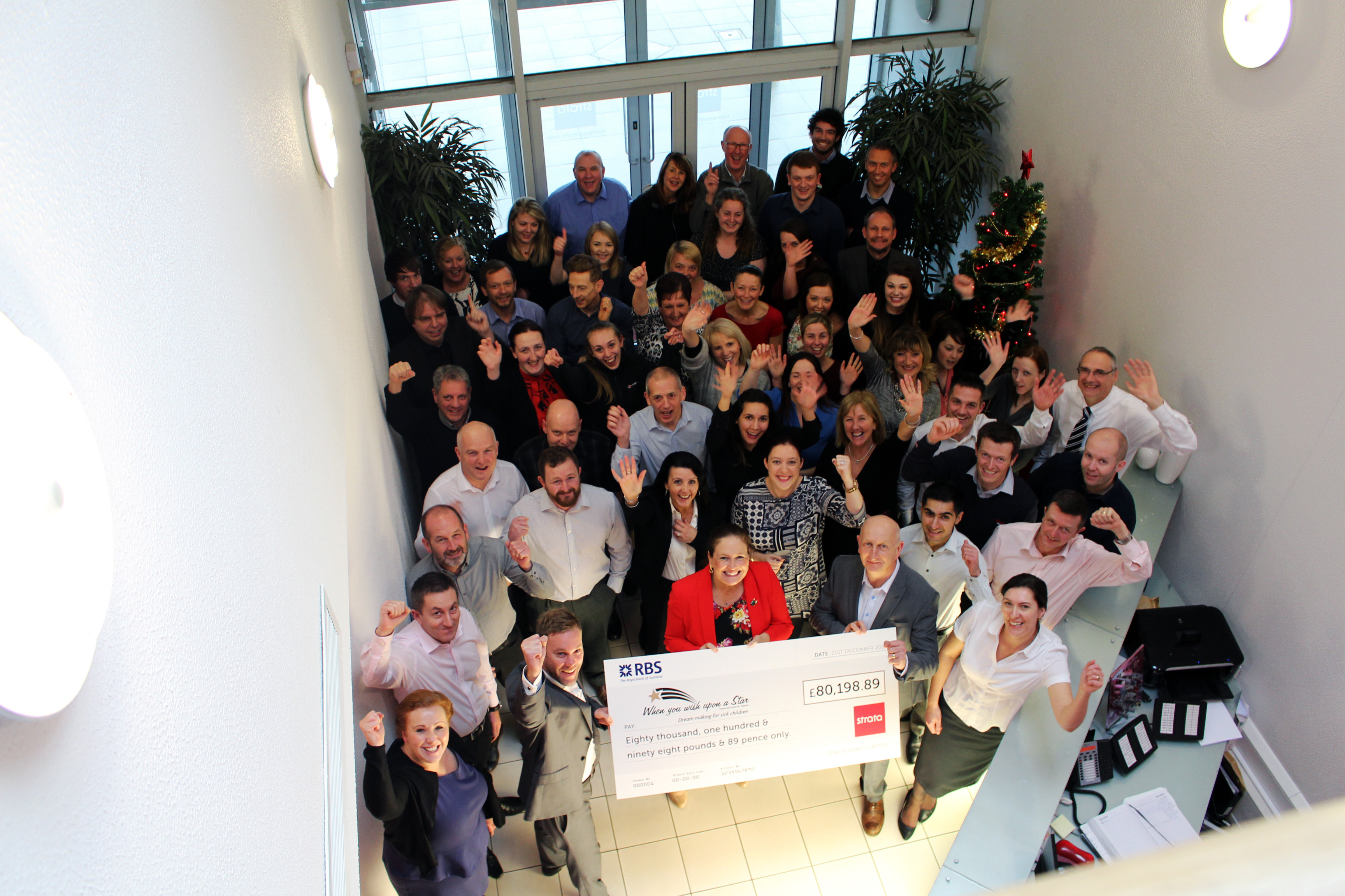 STRATA RAISES £80,000 FOR CHARITY OF 2015!